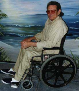 Wheelchair-bound John Avery.